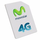 Simcard Movistar 4g Prepago X 30 Unidades + Envios Gratis