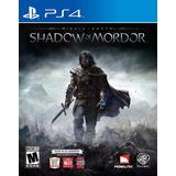 Middle Earth Shadow Of Mordor Juego Ps4 Playstation 4 Oferta