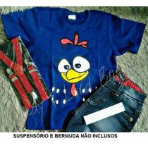 Camisa Blusa Camiseta Infantil Galinha Pintadinha