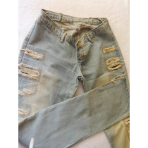 Calça Jeans Skinny Desfiada Moderna Marca R119 Tam 40/42