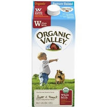 Organic Valley Ultra Pasteurizada Leche Entera 64 Onza - 6 P