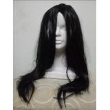 Peluca Negra Sintetica 42cm