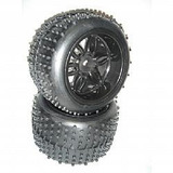 Pneu E Rodas Sintec Off-road Preta Monster 1/8 S096 17mm
