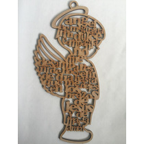 Recuerdo Angel De La Guarda Niño Mdf 3mm. Personalizado