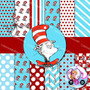Kit Imprimible Gato Ensombreado Dr Seuss Pack Fondos Papeles