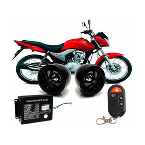 Alarme Caixa De Som Mp3 Moto Radio Fm Pen Drive Usb Cartão