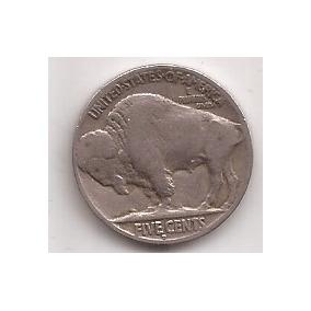 Estados Unidos Moneda De 5 Cents Año 1928 D Antigua