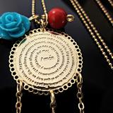 Collar Mujer Padre Nuestro Atrapasueños Swarovski Oro Goldfi