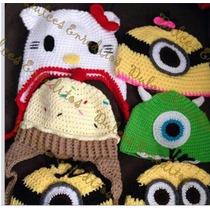 Gorros Gorra Zapatos Tejidos Crochet Bebe Niños Adultos Mrln