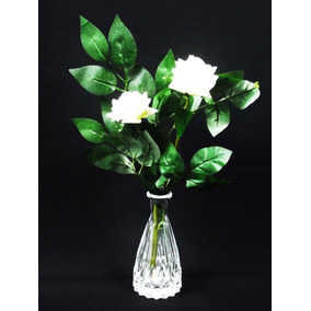 Arranjo De Rosas Artificial - Vasos Flores Artificiais Vidro