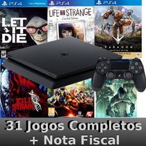 Playstation 4 Ps4 500gb Barato +nota +31 Jogos Grátis