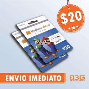 Cartão Nintendo Switch 3ds Wii U Eshop Card $20 Imediato!