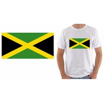 Camiseta Masculina Feminina Bandeira Jamaica Reggae Flag Top