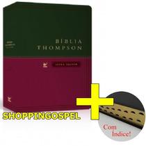 Bíblia De Estudo Thompson Letra Grande Luxo Com Índice