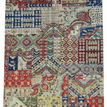 Alfombra / Tapete Hand-knotted Ghanzi Wool Afghan Patchwork