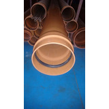 Tubo Ocre 300mm 0,50mt Pvc Espessura 7,7mm Tigre Ext 315mm