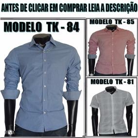 Camisa Social Slim Fit Marca Tng Original Vários Modelos