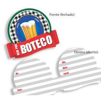 Convite De Festa Vem Pro Boteco - 8 Unidades