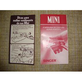 Manual De Instruções Máquina Mini Singer Anos 80/90.