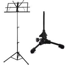 Estante Partitura Pedestal + Suporte Sax Clarinete Trompete