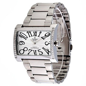Relógio Champion Feminino Passion Quadrado Aço Inox Ch24240q