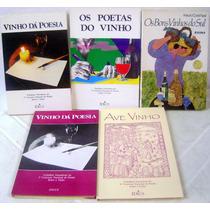 Lote 5 Livros Sobre Vinhos - Enologia
