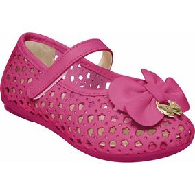 Sapatilha Infantil Em Couro Pink Marisol