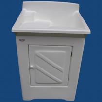 Tanque Lavar Roupas De Fibra 25 Litros Com Gabinete Difibra