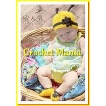Conjunto Gorro Y Zapatitos Para Niña Tejidos A Crochet
