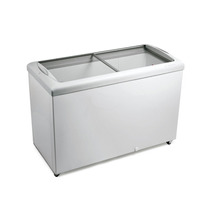 Freezer Horizontal Tampa De Vidro 336l 220v Metalfrio Hf40s