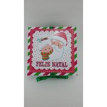 Caixa 3d Para 4 Docinhos Tema Natal