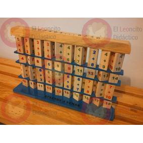 Juguete Didáctico: Sumador De Madera. Sumas. Niños.