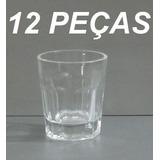 Kit 12 Copo Shot Dose Unica 45 Ml Vidro Vodka Pinga Licor