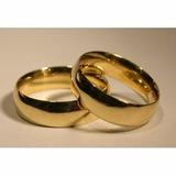 Alianzas- Anillos- Matrimonios --bodas-acero -enchape 18 K