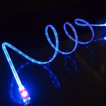 10 Cables Micro Usb V8 Luminoso Celular Tablet Luz Cargador