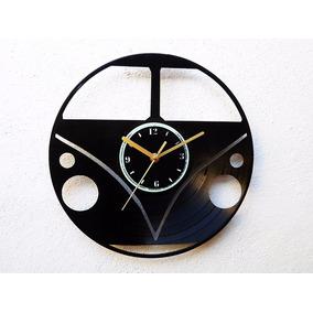 Reloj De Pared Disco De Vinilo Acetato Vinil Vw Combi