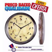 Relógio De Parede Canto Dos Pássaros Herweg 6658 Pt Promoção