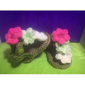 Sandalias Para Bebe En Crochet Tejidas A Mano