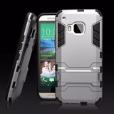 Case Protector Funda Touch Armor Ironman Plateado Htc One M9