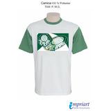 Camisa Time Palmeiras - Escudo Verdão Com Seu Nome