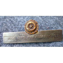 Antigua Placa Policia Federal Bronce Coleccionable 1960´s