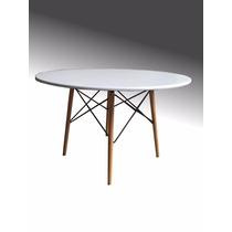 Mesa Comedor Tipo Eames Blanca Minimalista Moda Trabajo Ikea