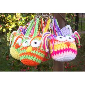 Lechuzas Buhos Regalos Souvenirs Tejidos Al Crochet Llavero
