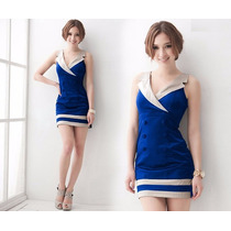Vestido Corto Tipo Marinero Para Mujer Moda Europea 0024
