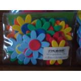 Flores Y Mariposas De Goma Eva Con Adhesivo Por 15 Unidades