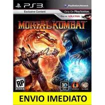 Jogo Psn Mortal Kombat 9 Ps3 Código Psn Legendas Português