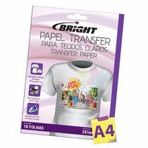 Papel Transfer Para Algodão Bright Tecidos Claros 10 Folhas