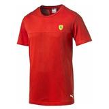 Camiseta Masculina Puma Scuderia Ferrari Tee - Puma - Vermel