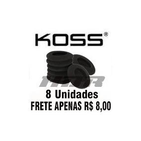 Kit 8 Un Almofadas Espumas Reposicao Koss Porta Pro Portapro