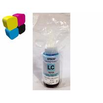Botella Tinta Epson Azul Claro Para L800 70ml Original